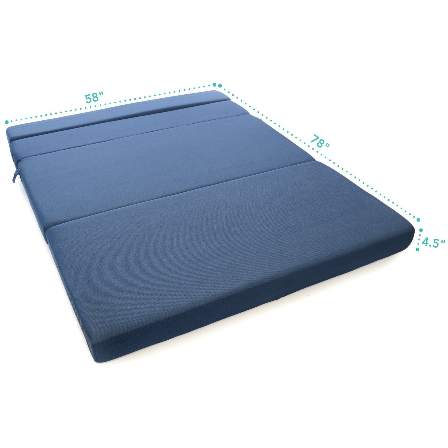 Tri fold foam folding mattress and sofa bed queen for Tri fold futon mattress cover