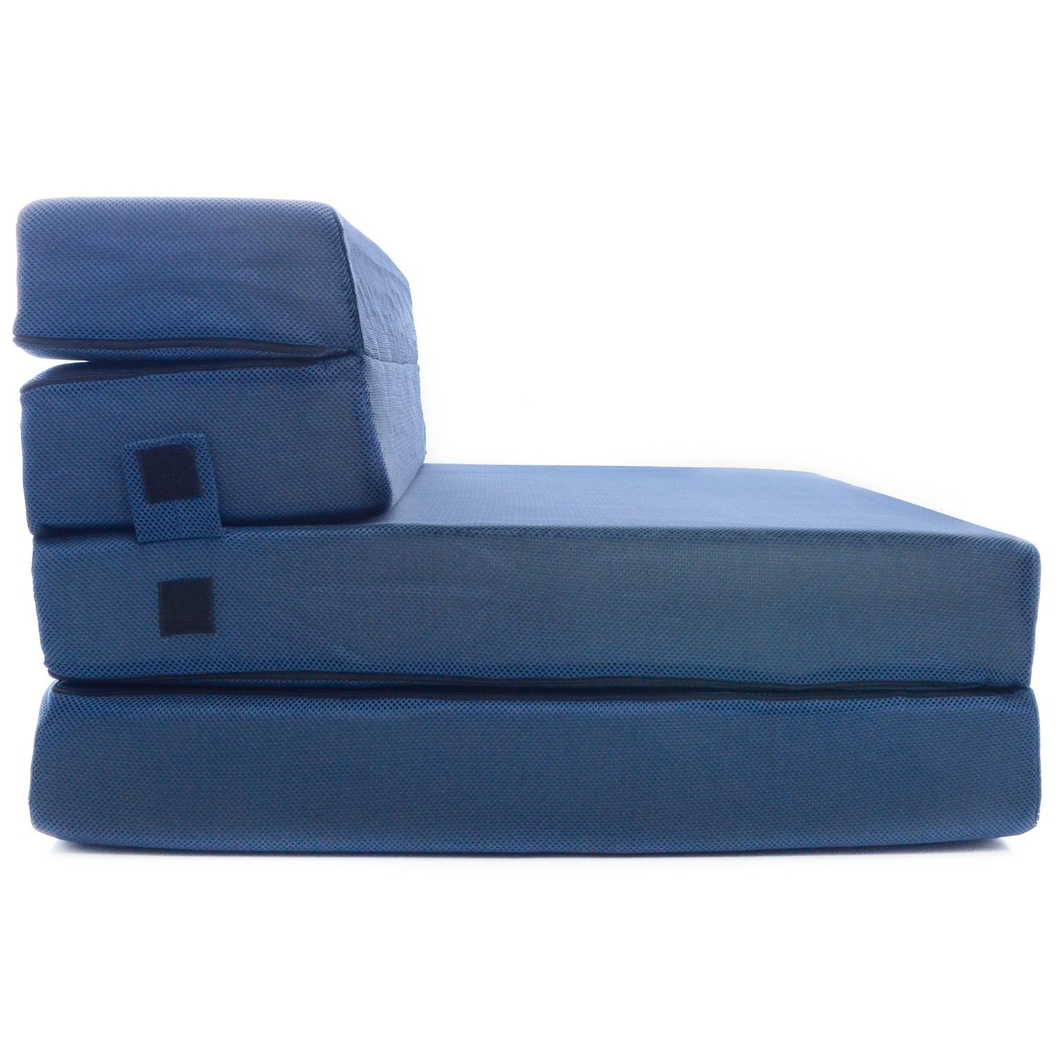 Tri fold foam folding mattress and sofa bed queen for Folding bed